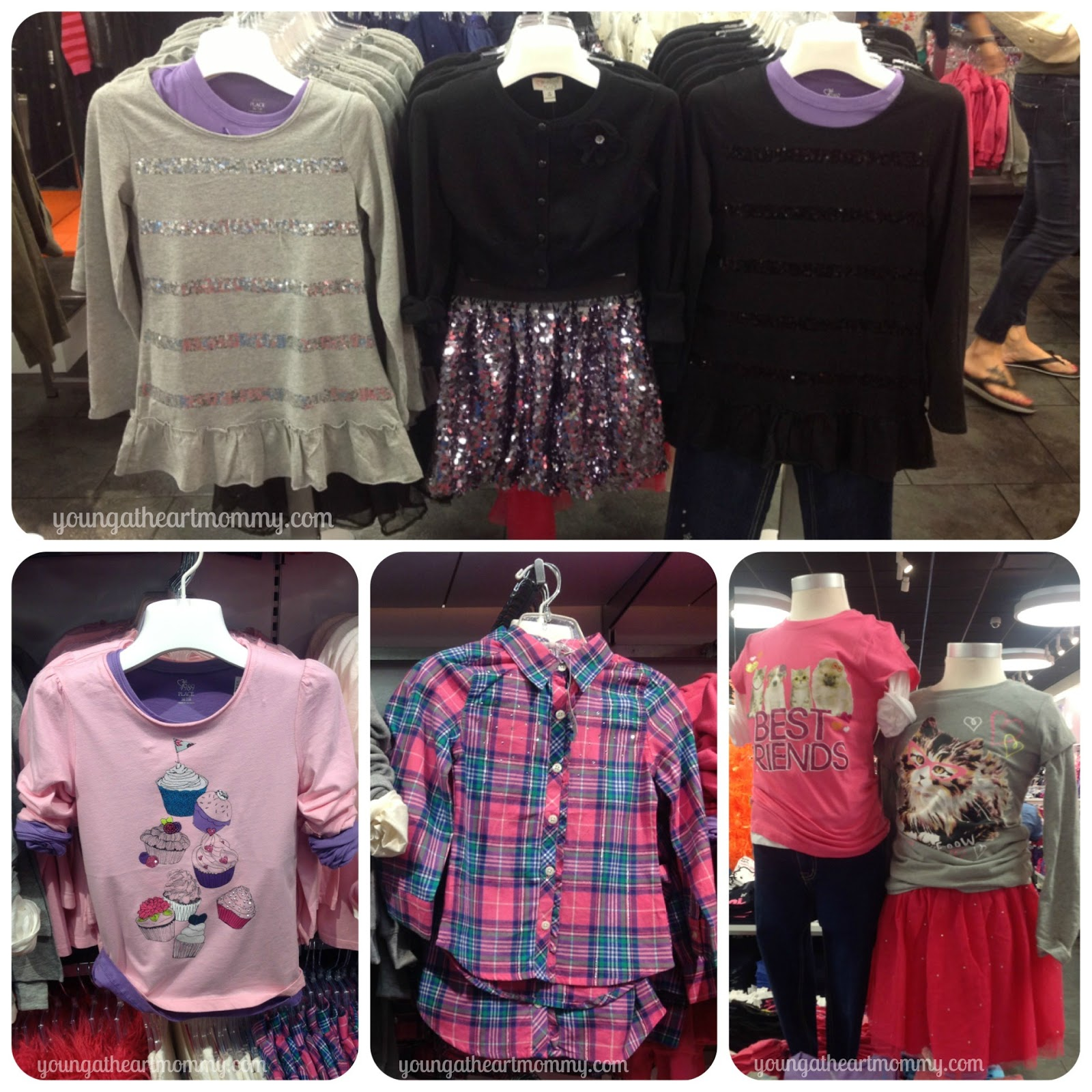 18a0e0bb4 New graphic t's, fleece, hoodies, and plaid shirts with a touch of sparkle  were also showcased in the little girl's section. I am always overwhelmed  with ...