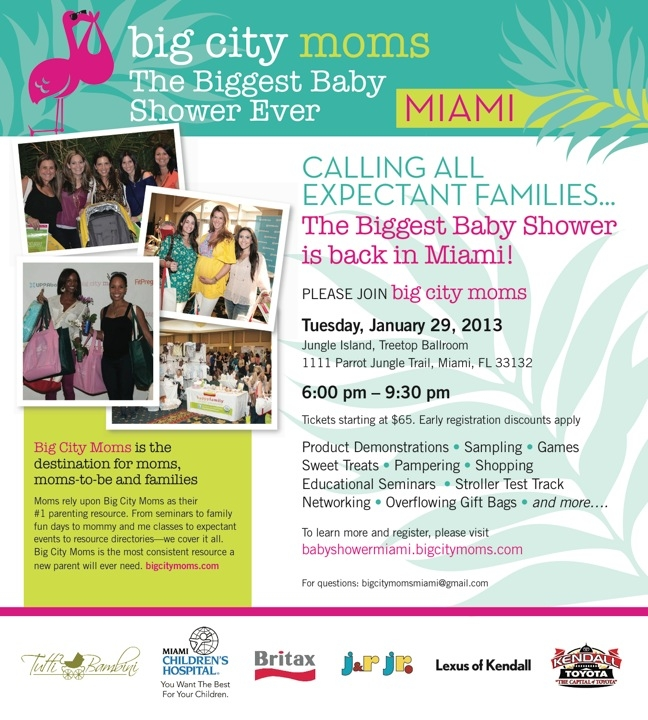 big city moms biggest baby shower event visits miami tomorrow