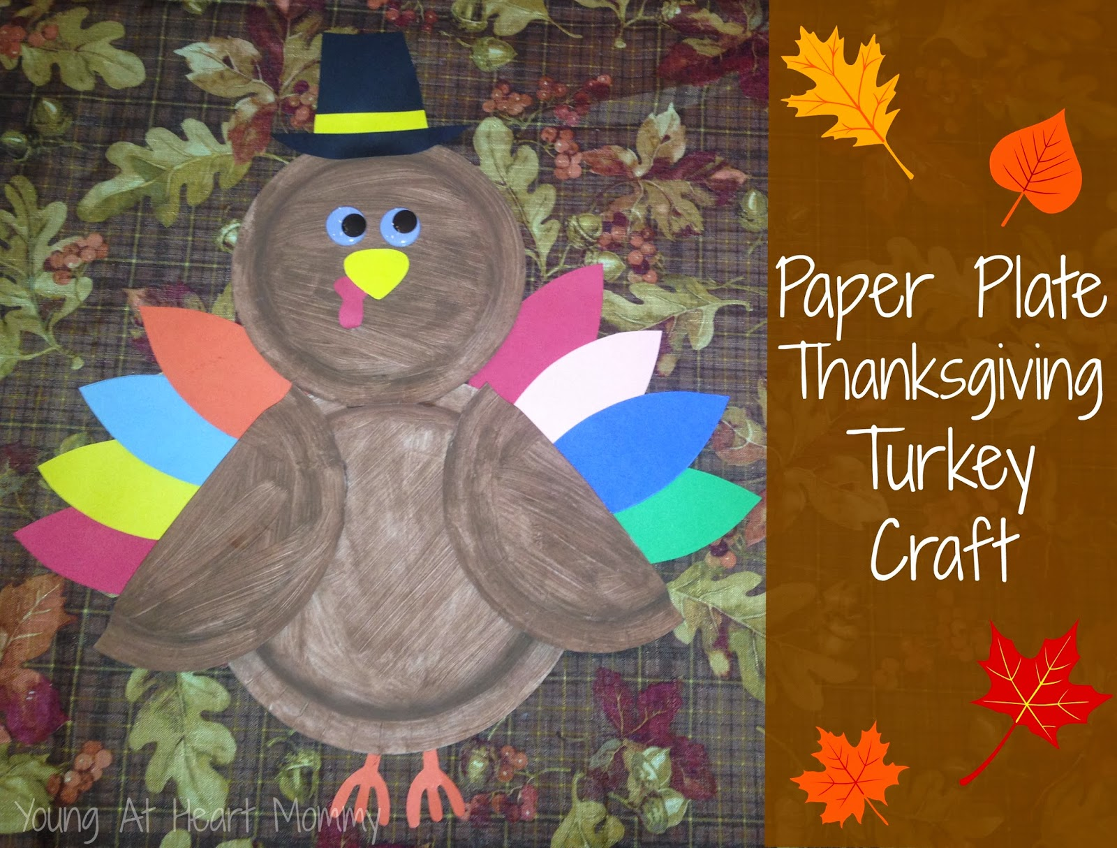& Paper Plate Thanksgiving Turkey Craft - Young At Heart Mommy