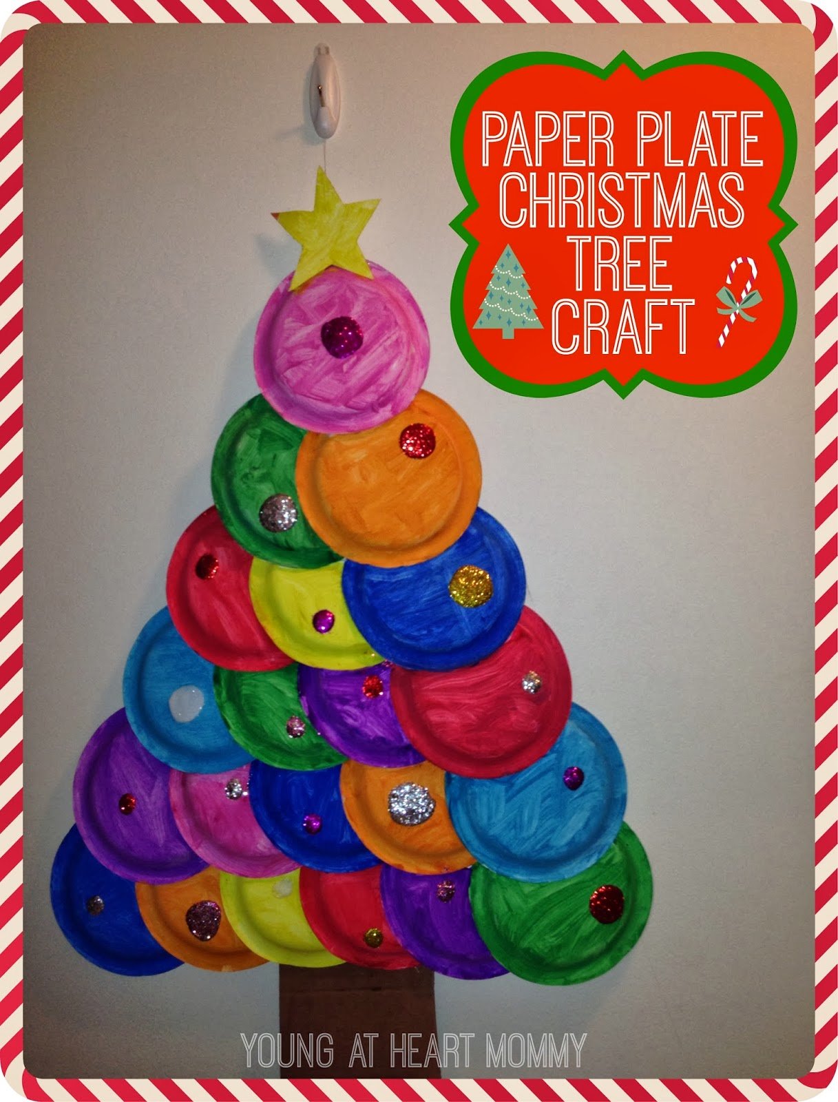Holiday Craft Painted Paper Plate Christmas Tree! & Holiday Craft: Painted Paper Plate Christmas Tree! - Young At Heart ...