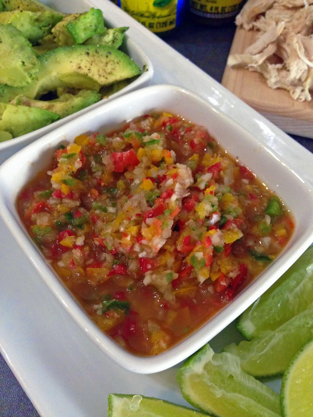 Rotisserie Chicken Tostadas + Spicy Habanero Salsa #SauceOn | Young At ...