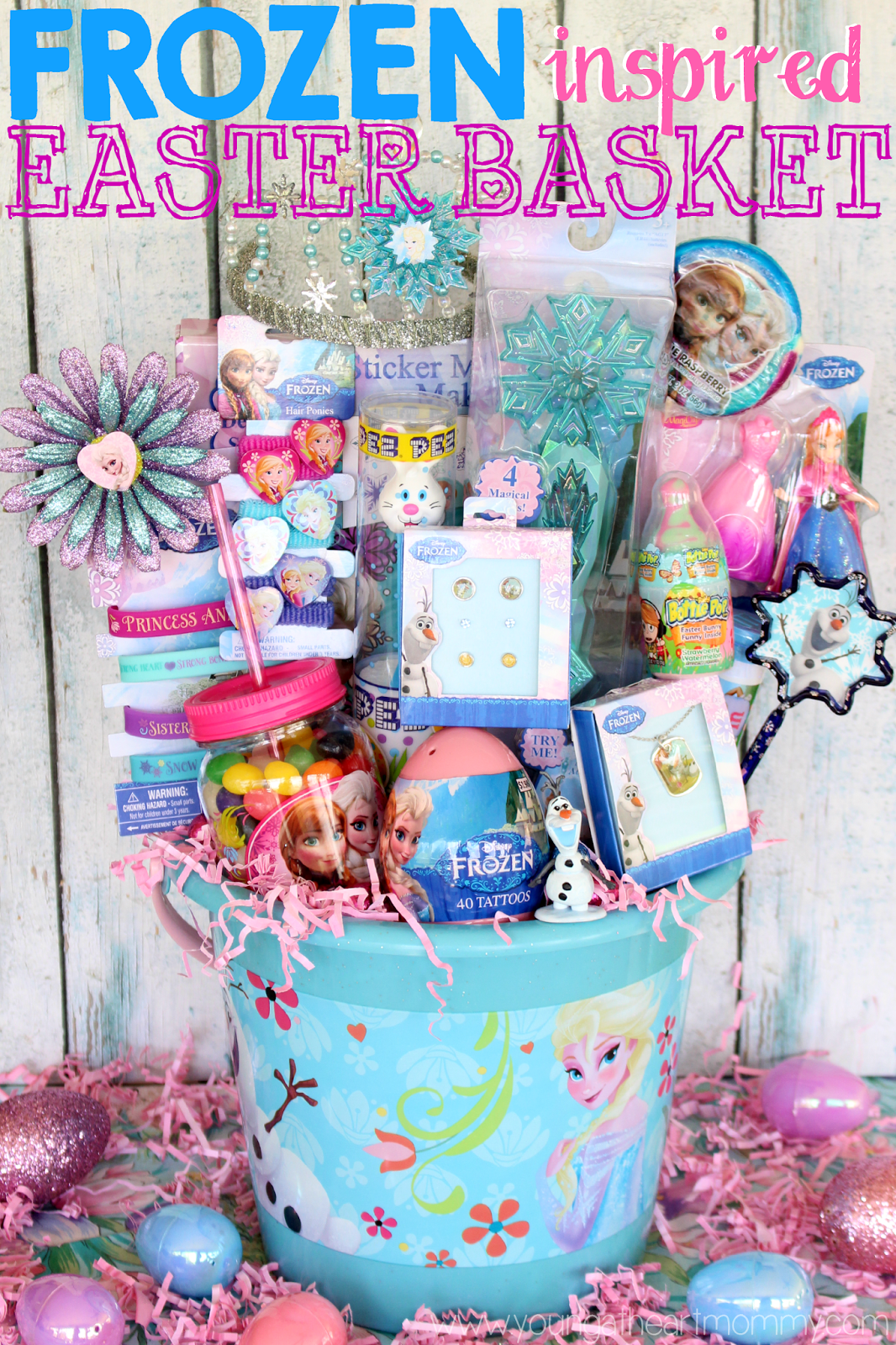 An easter basket fit for a frozen queen young at heart mommy an easter basket fit for a frozen queen negle Images