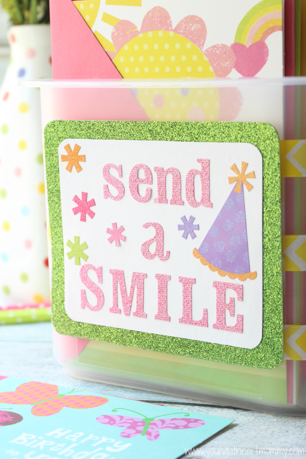Send A Smile With Hallmark Diy Greeting Card Organizer Young At