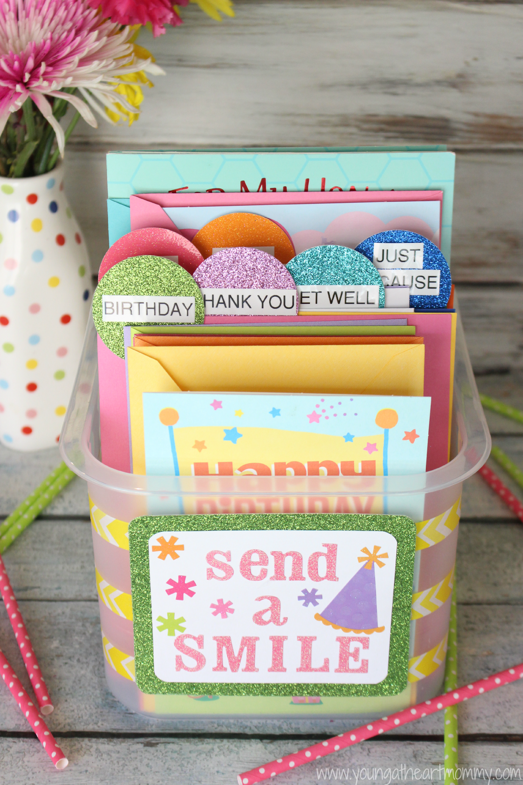 Send a smile with hallmark diy greeting card organizer young send a smile with hallmark diy greeting card organizer young at heart mommy kristyandbryce Images