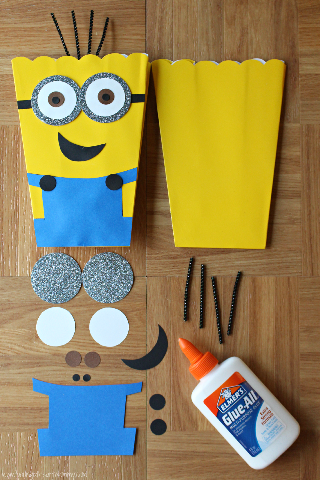 This Despicable Me Minion Munchies Snack Mix is sweet, salty, and loaded with yummy treats for your next family movie night!