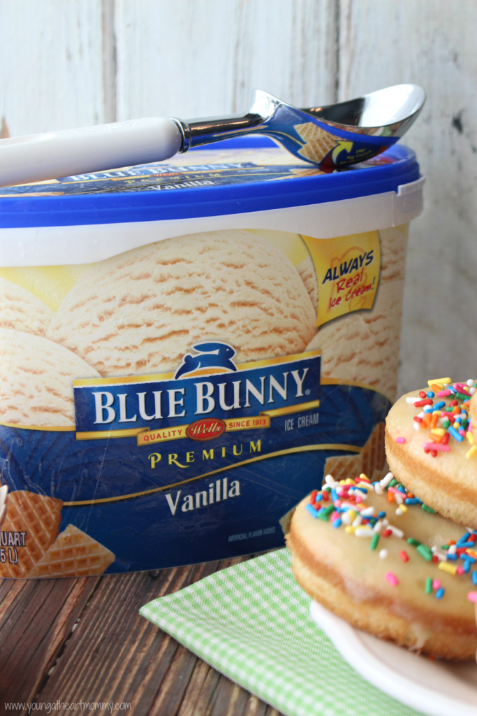 Funfetti Donut Ice Cream Sandwiches Young At Heart Mommy