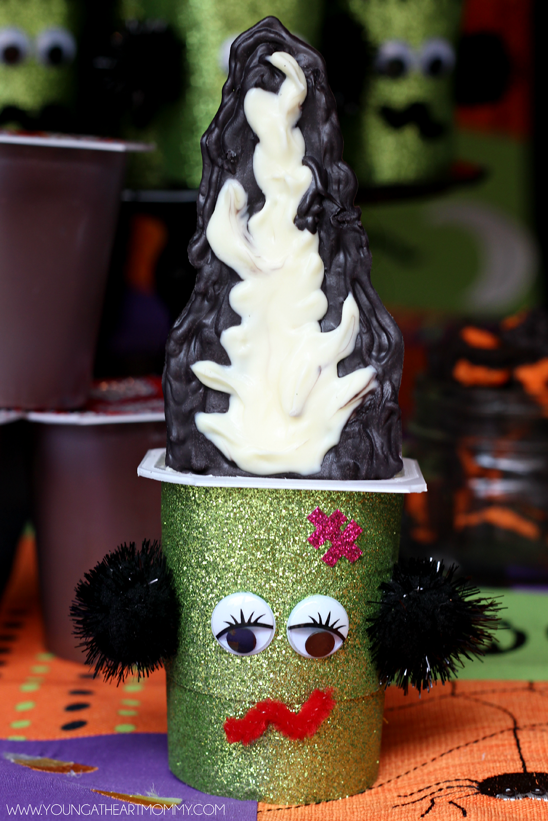 Bride of Frankenstein Pudding Cups