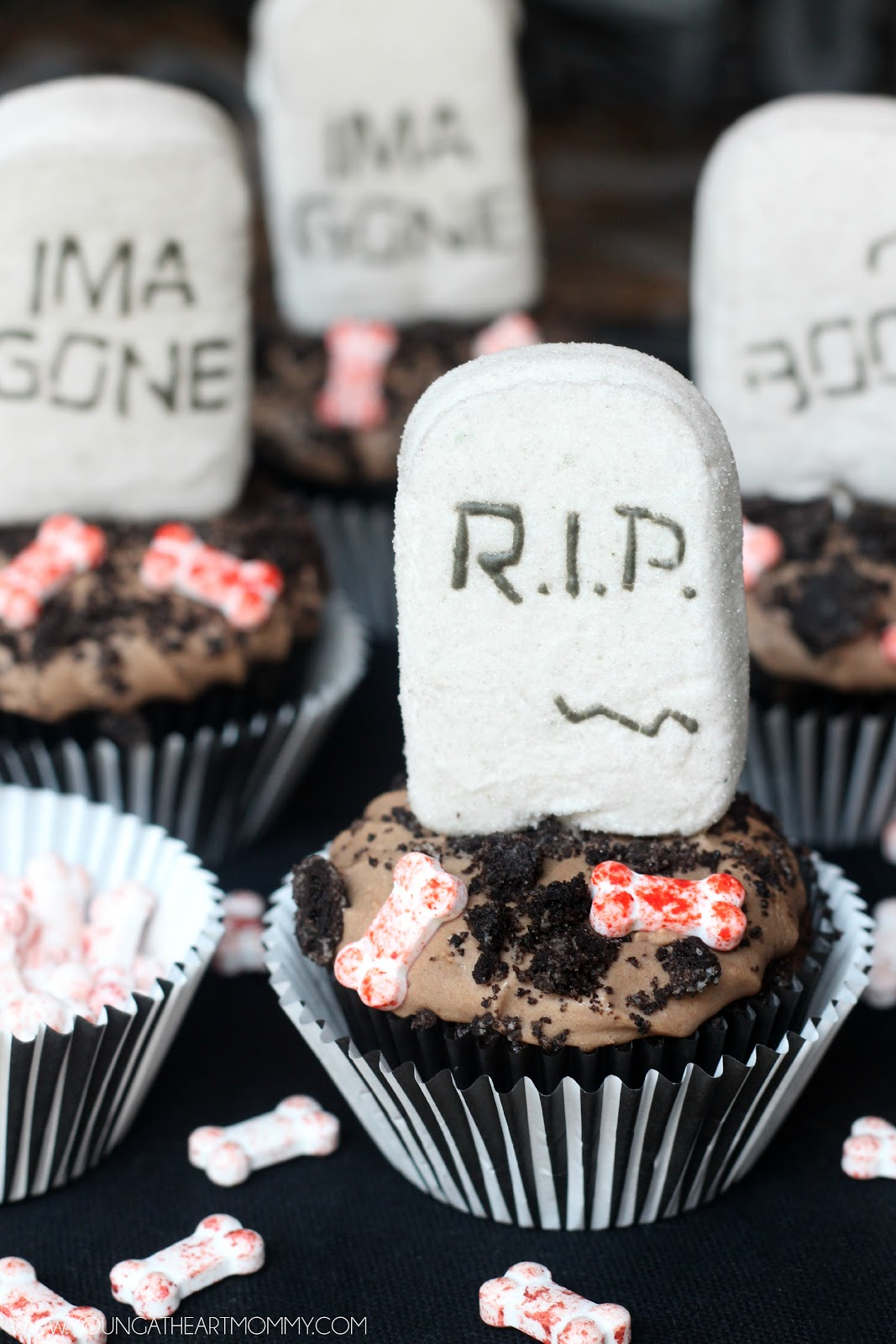 Marshmallow Peeps 174 Tombstone Cupcakes Young At Heart Mommy