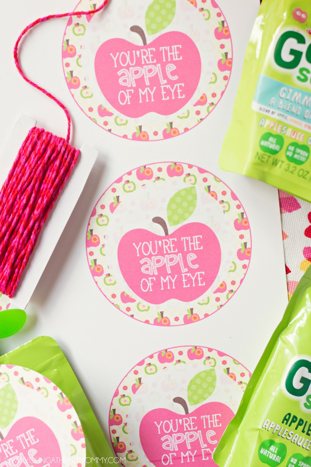 """You're The Apple Of My Eye"" GoGo squeeZ Valentines ..."