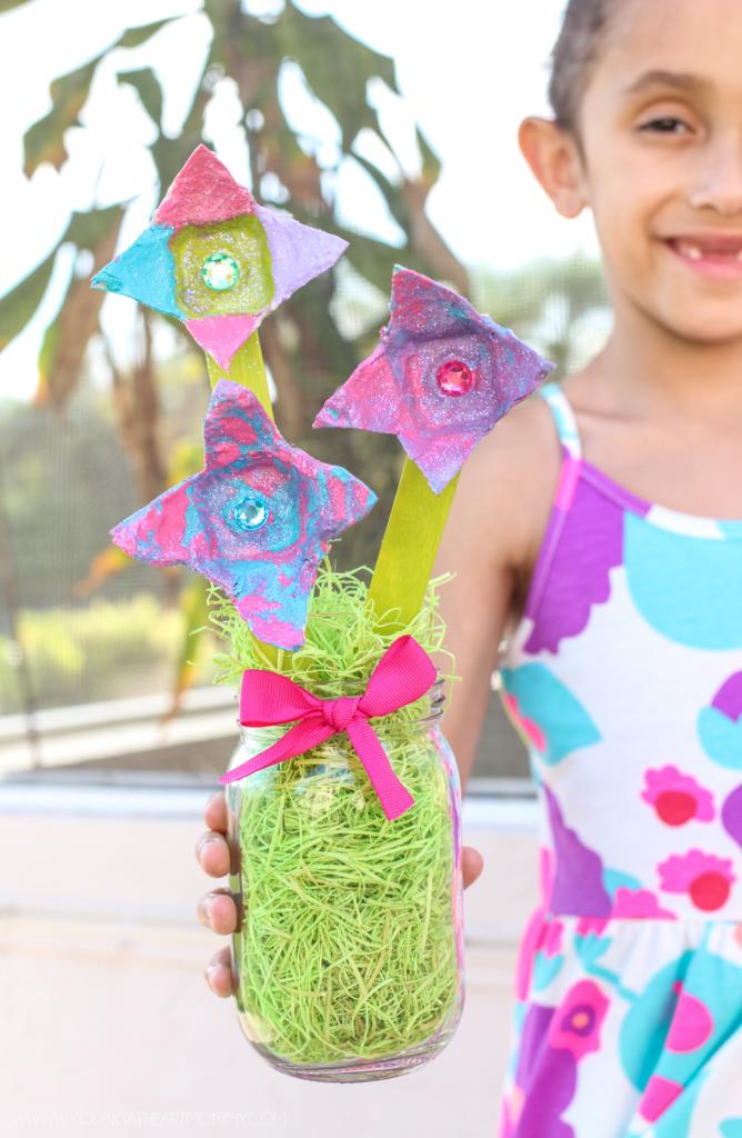 Colorful-Spring-Egg-Carton-Flower-Tutorial