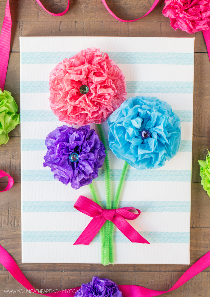 Easy-Mothers-Day-Tissue-Paper-Flower-Canvas