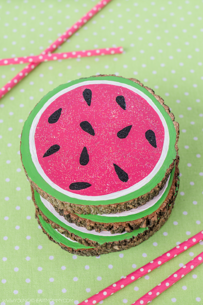How-To-Make-Painted-Wooden-Watermelon-Coasters
