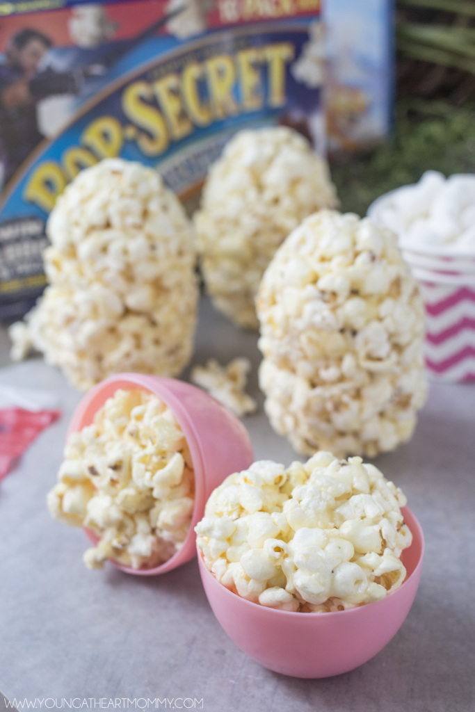Easy Way To Make Marshmallow Popcorn Egg Treats