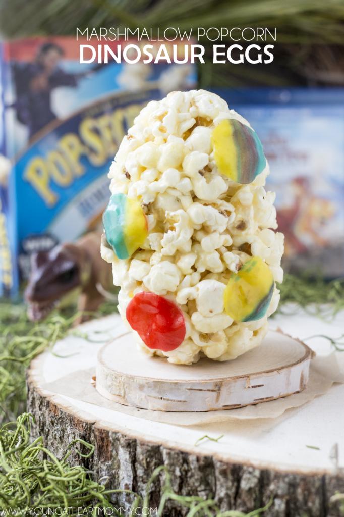 Marshmallow Popcorn Dinosaur Egg Recipe