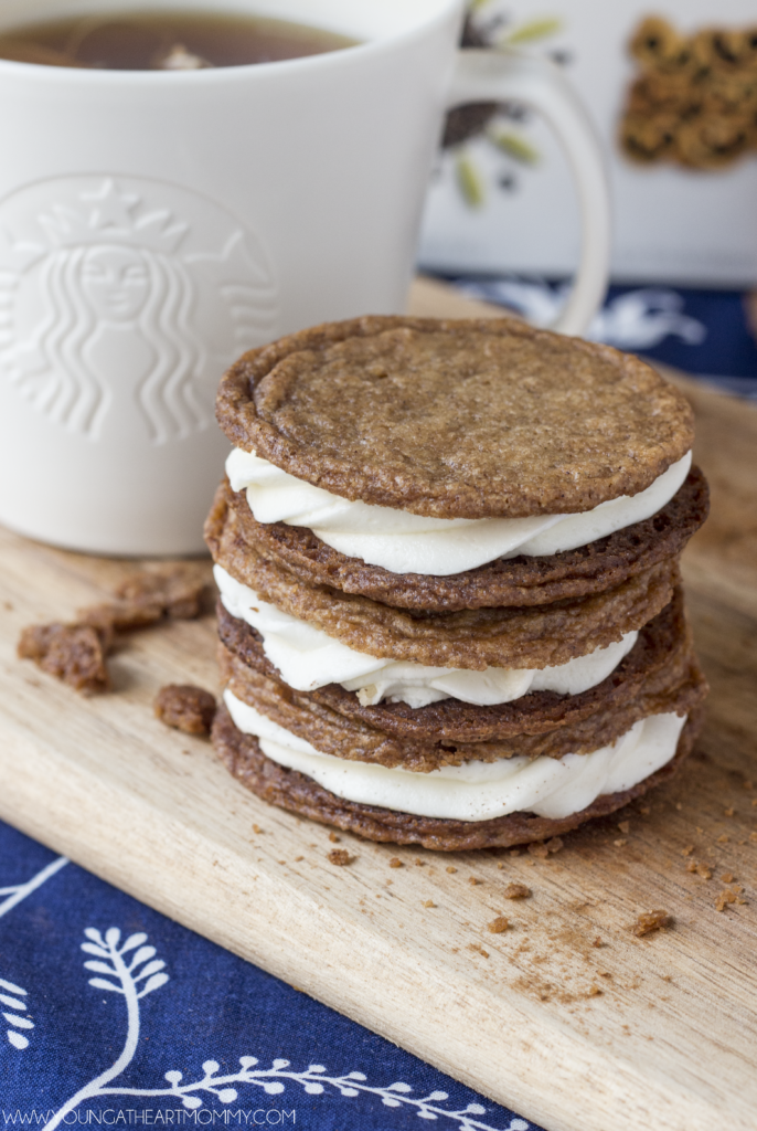 Cinnamon Cookie Sandwiches With A Sweet Cream Filling