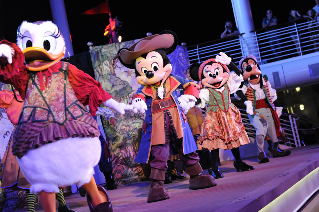 Dance the night away with Mickey's Pirate Crew (Photo: Disney Cruise Line)