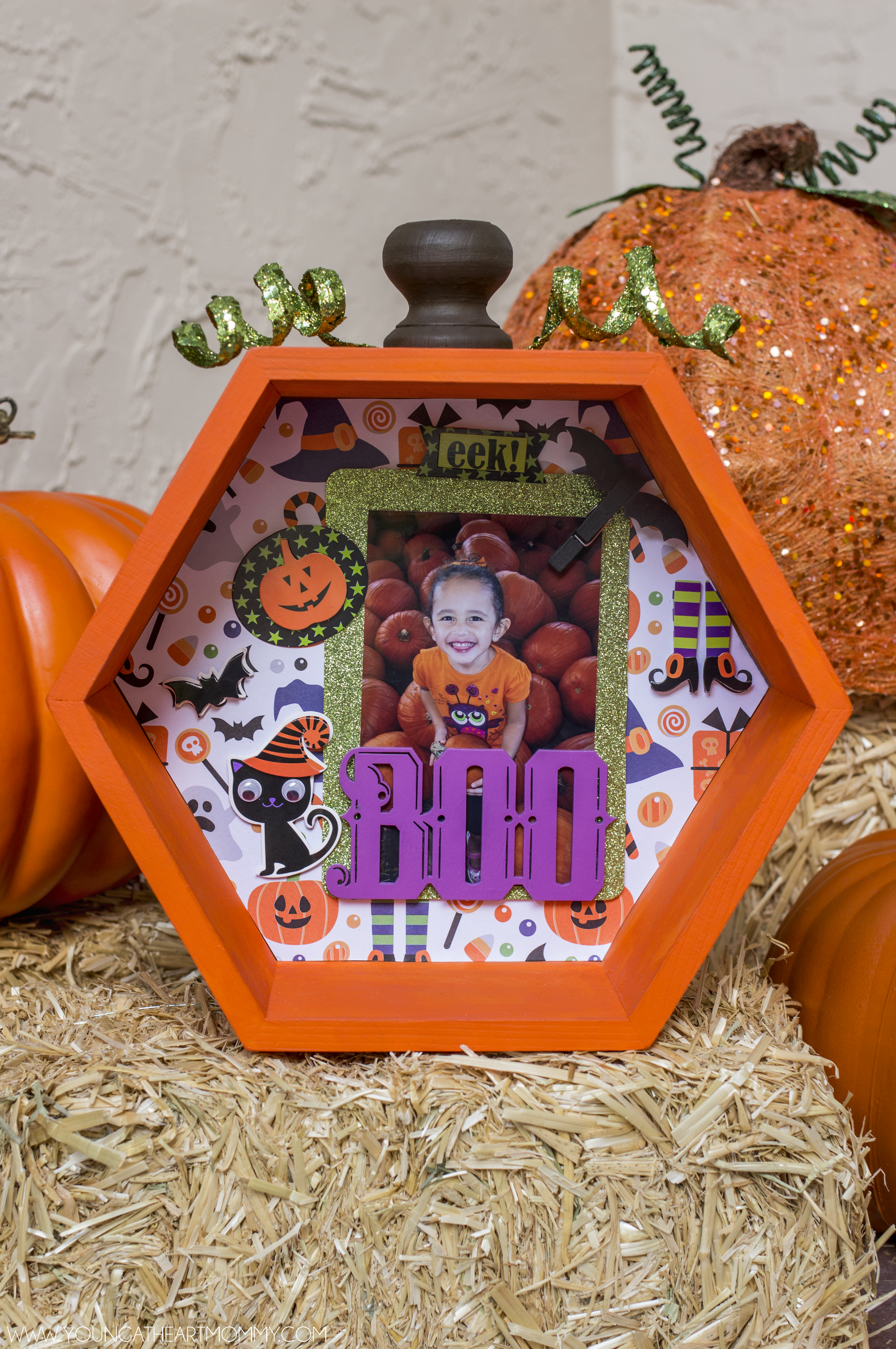 Halloween Pumpkin Shadowbox - Young At Heart Mommy