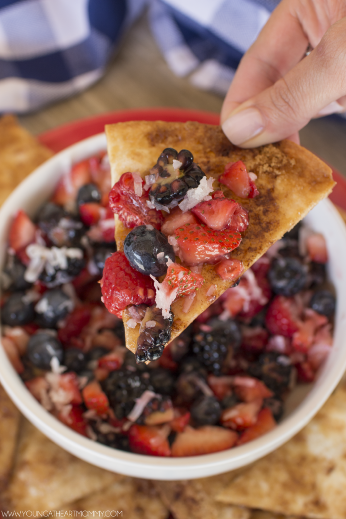 Very Berry Salsa With Shredded Coconut
