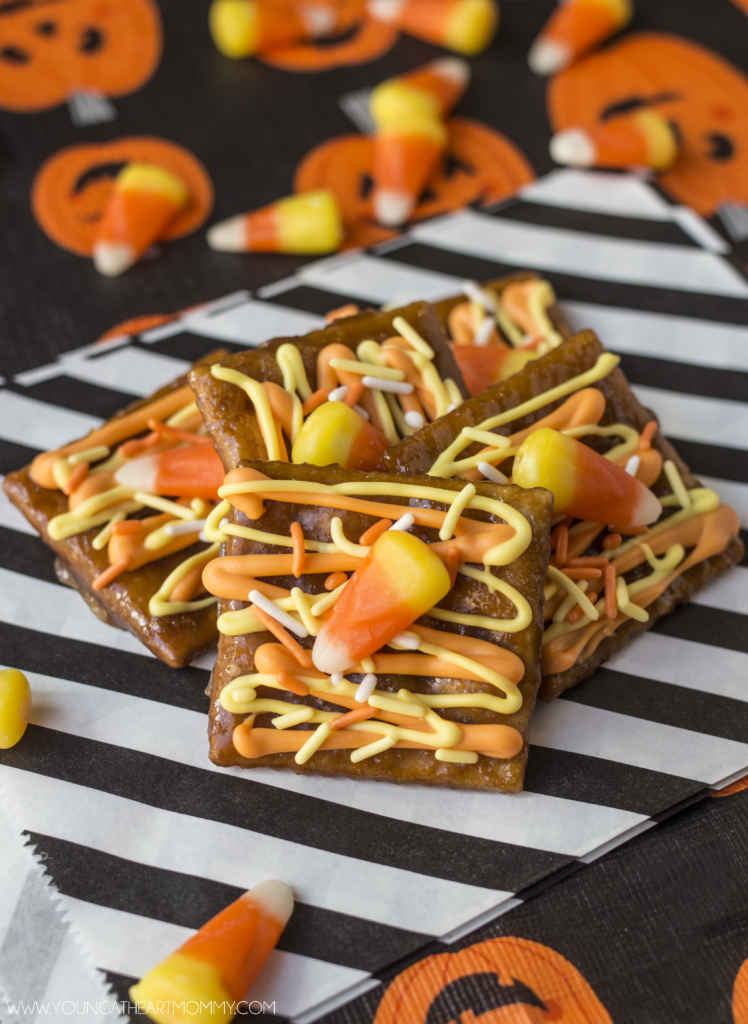 Candy Corn Toffee For Halloween