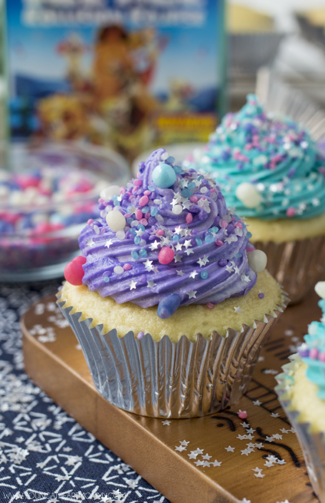Galaxy Cupcakes With Candy Meteorites and Stars