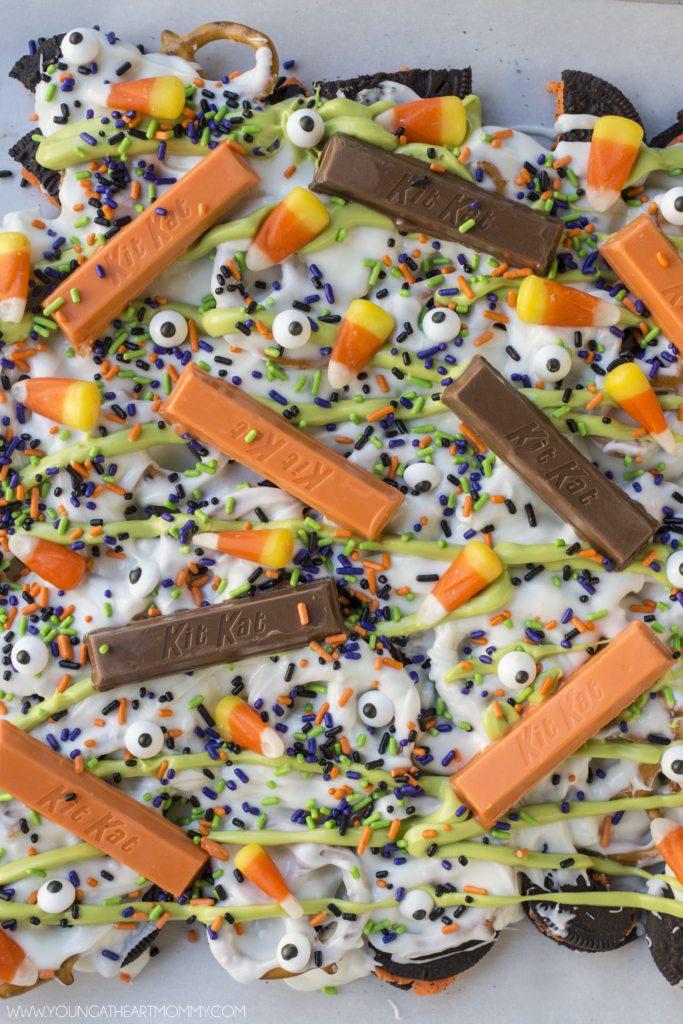 Kit Kat Halloween Bark