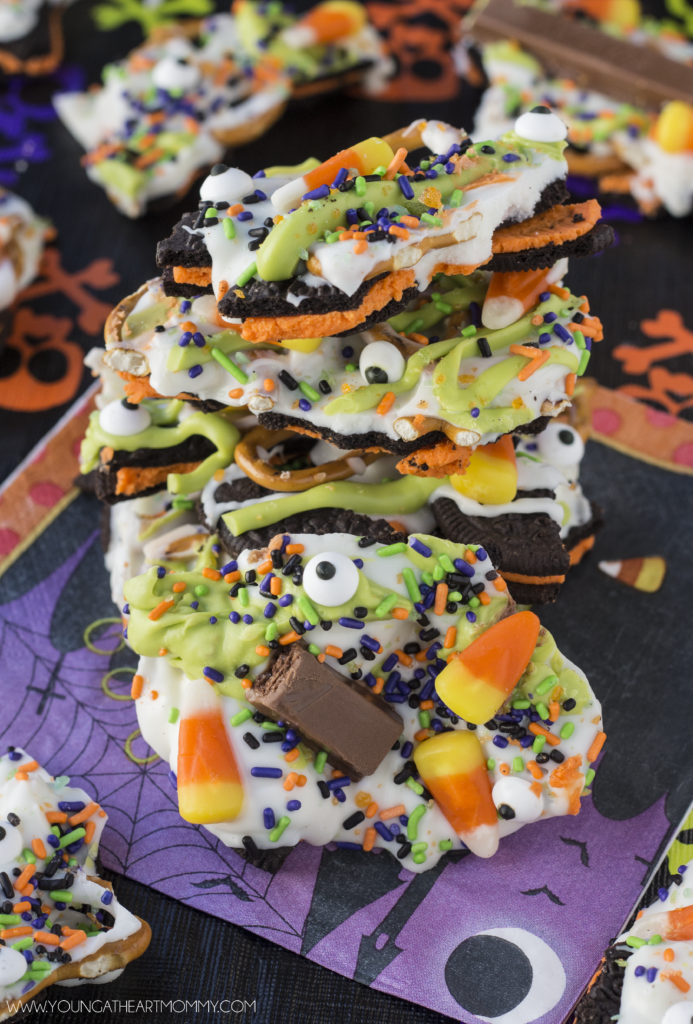 Sweet and Salty Halloween Candy Bark