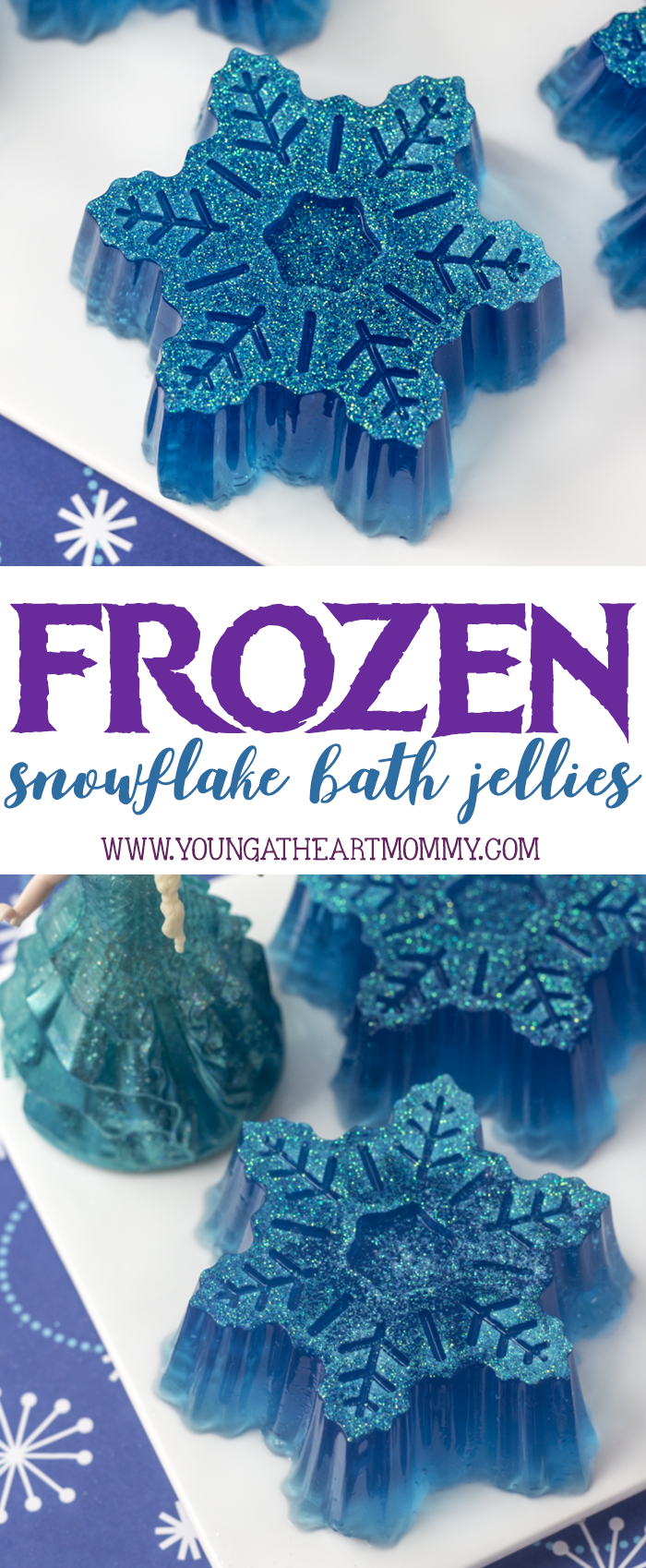 Disney Inspired Frozen Snowflake Bath Jellies