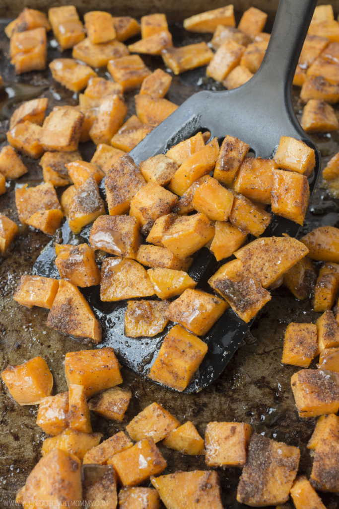 Sweet And Spicy Sweet Potatoes With Brown Sugar Glaze