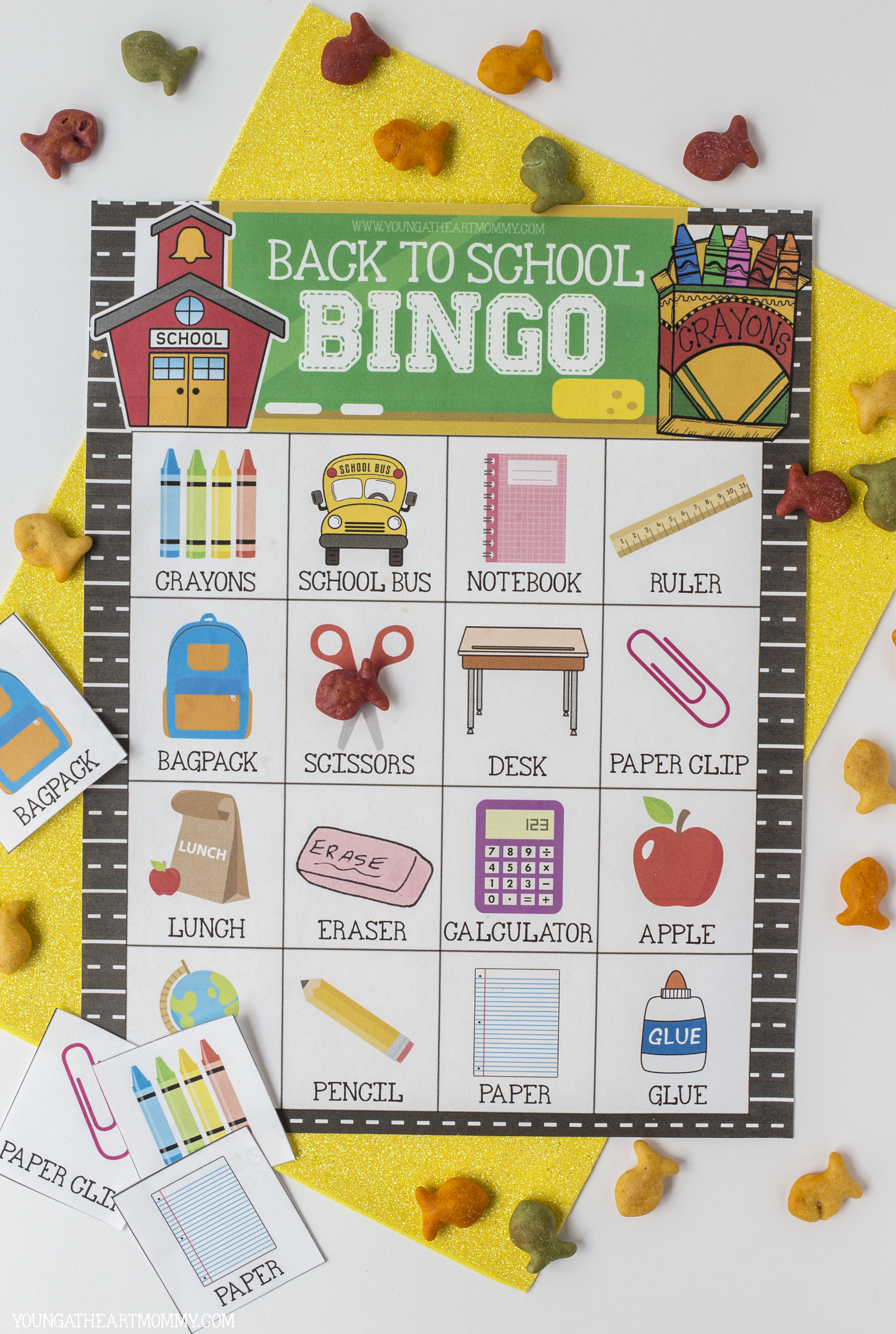 picture relating to Back to School Bingo Printable named BINGO CARD - More youthful At Centre Mommy
