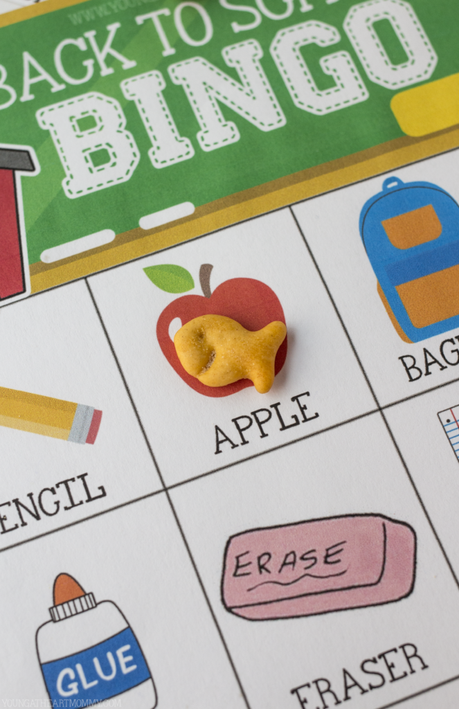 Free Printable Back To School BINGO Cards