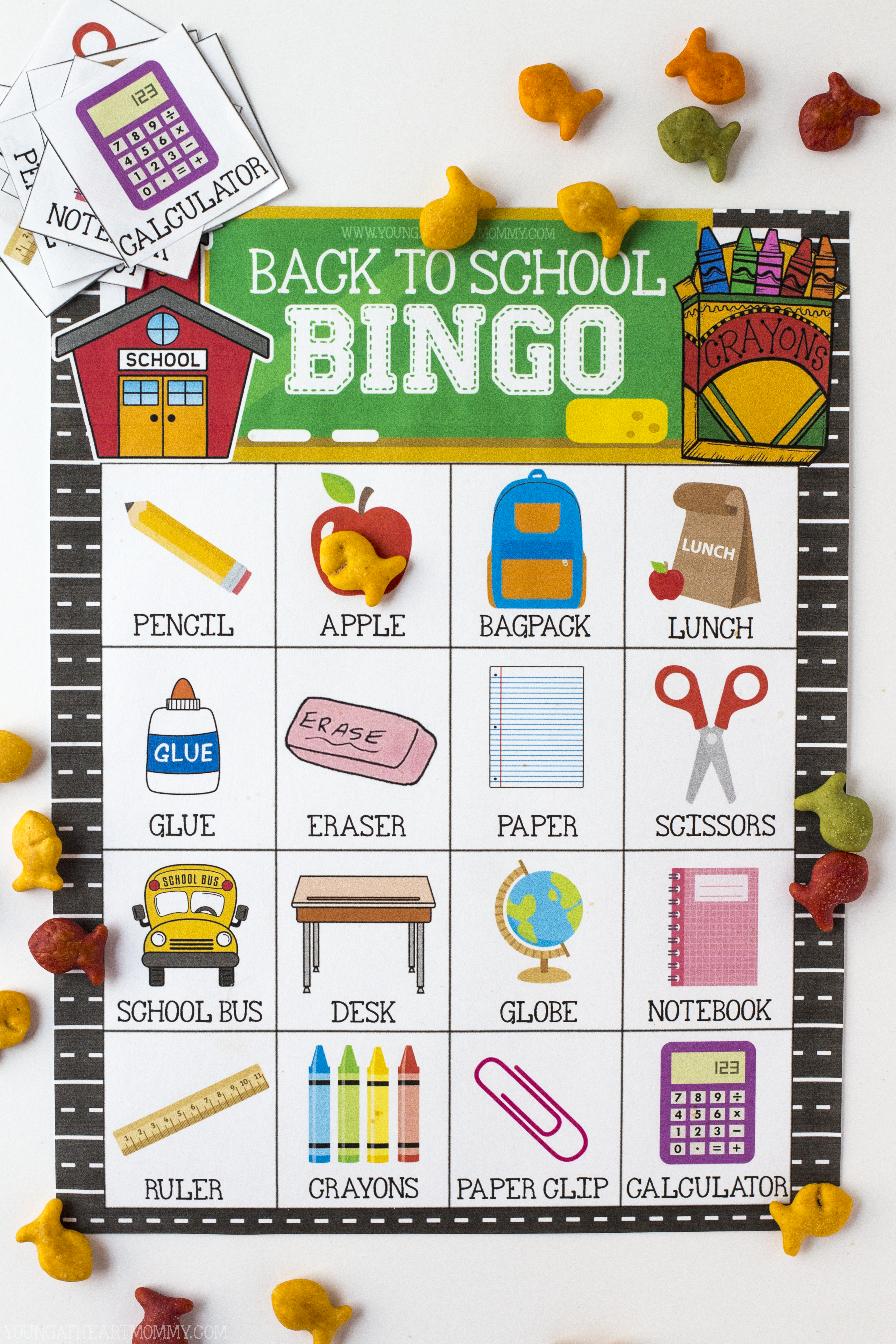 photo about Back to School Bingo Printable known as Totally free Printable Back again In direction of College Bingo Printable - More youthful At