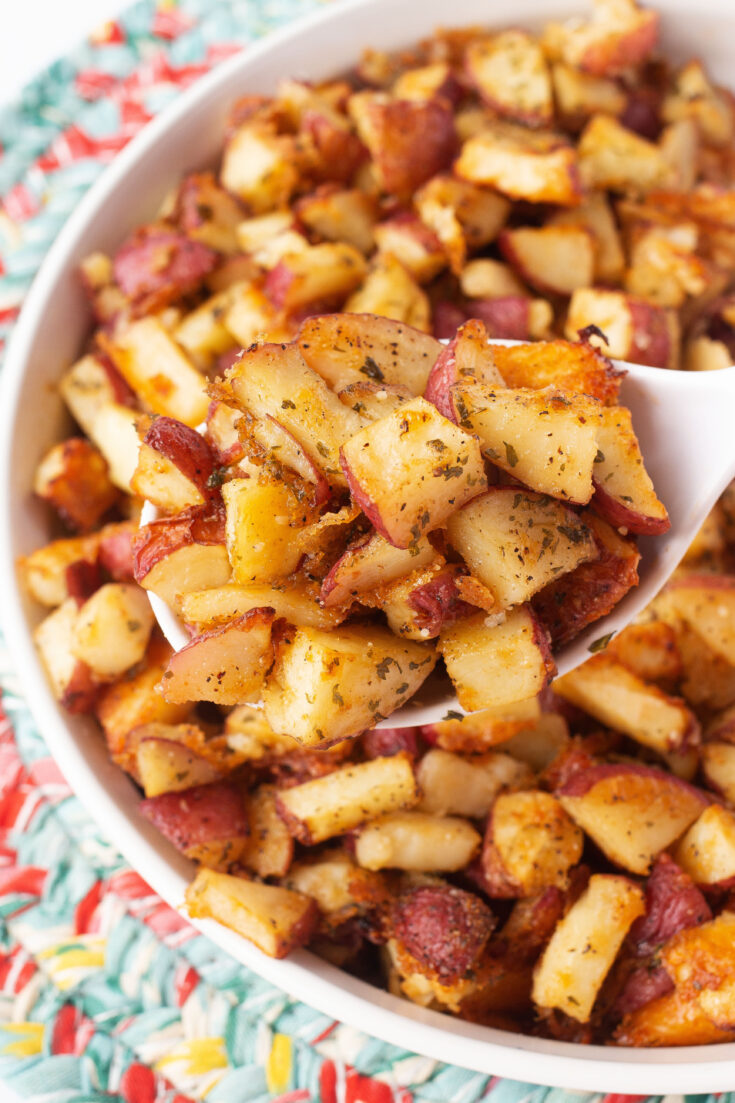 Oven Roasted Parmesan and Garlic Truffle Potatoes