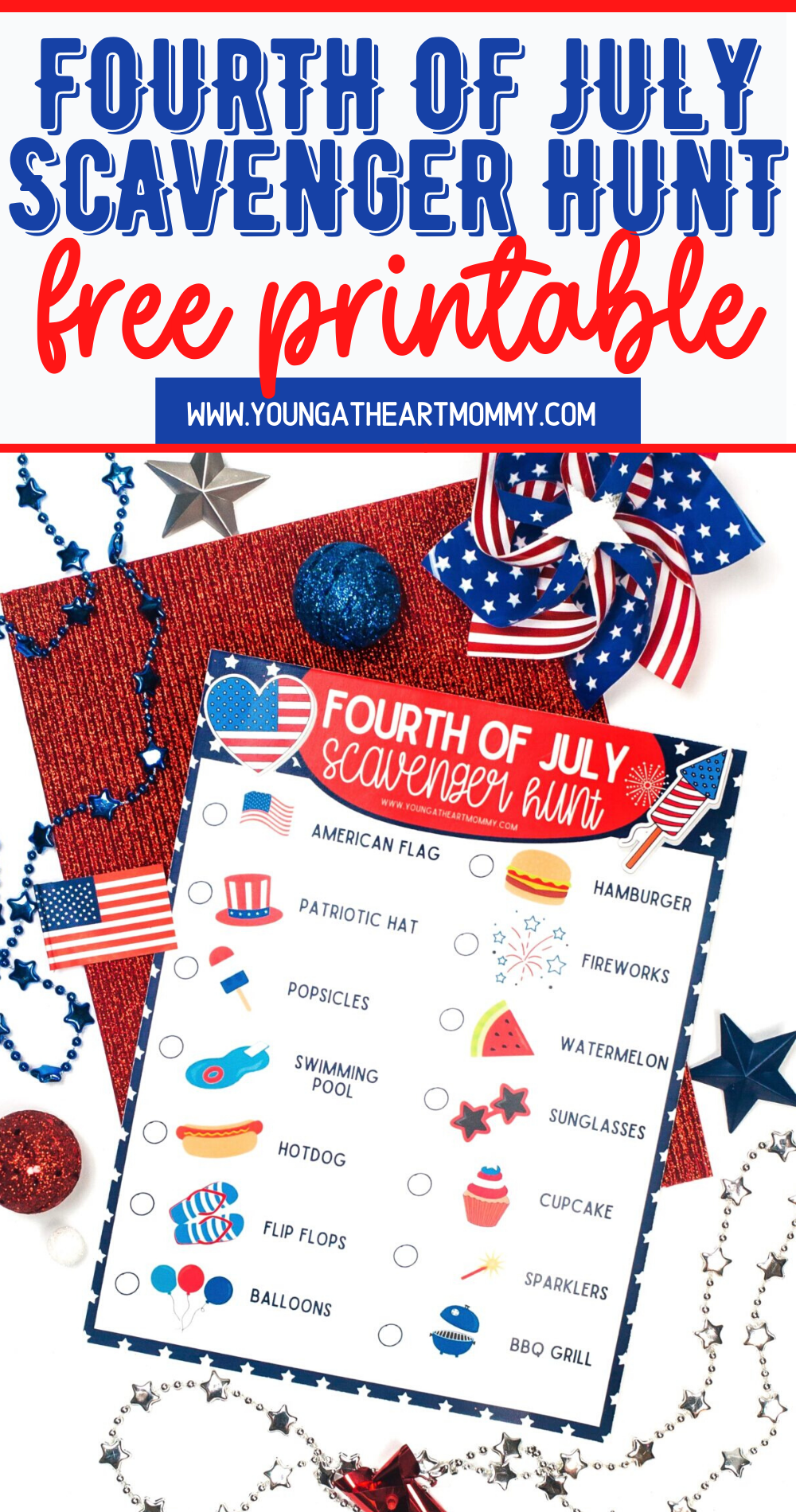 FREE Fourth of July Scavenger Hunt Printable